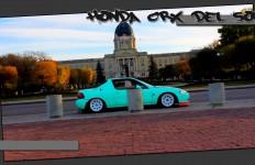 Slammed Honda CRX